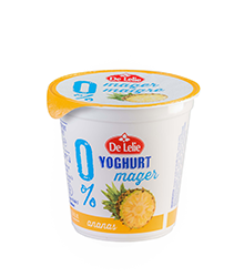 Magere yoghurt ananas 150g
